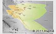 Physical Panoramic Map of MUTOMO, desaturated