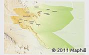 Physical Panoramic Map of MUTOMO, lighten