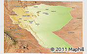 Physical Panoramic Map of MUTOMO, satellite outside