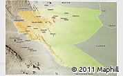 Physical Panoramic Map of MUTOMO, semi-desaturated