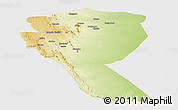 Physical Panoramic Map of MUTOMO, single color outside