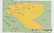 Savanna Style Panoramic Map of MUTOMO