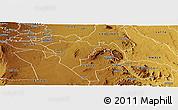 Physical Panoramic Map of KATHIANI