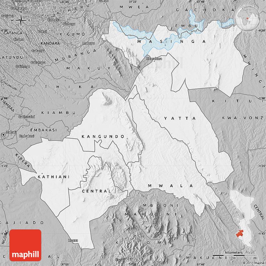 Gray Map of MACHAKOS
