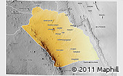 Physical 3D Map of KIBWEZI, desaturated