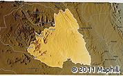 Physical 3D Map of MAKUENI, darken