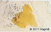Physical 3D Map of MAKUENI, lighten