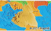 Physical 3D Map of MAKUENI, political outside