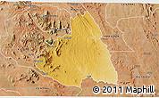 Physical 3D Map of MAKUENI, satellite outside
