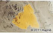 Physical 3D Map of MAKUENI, semi-desaturated