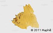 Physical 3D Map of MAKUENI, single color outside