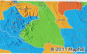 Political 3D Map of MAKUENI