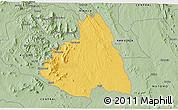 Savanna Style 3D Map of MAKUENI
