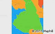 Political Simple Map of MAKUENI