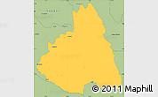 Savanna Style Simple Map of MAKUENI