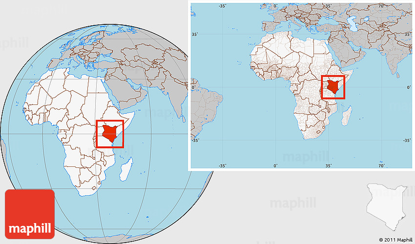 Gray location map of kenya highlighted continent within the entire 2d gumiabroncs Choice Image