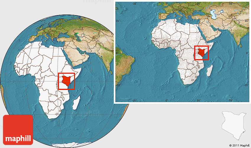 Satellite location map of kenya highlighted continent within the 2d gumiabroncs Choice Image