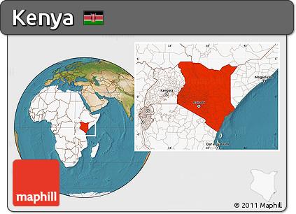 Free satellite location map of kenya highlighted continent highlighted continent satellite location map of kenya highlighted continent gumiabroncs Choice Image
