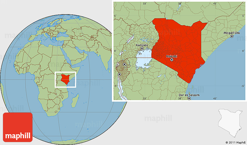 Savanna style location map of kenya 2d gumiabroncs Image collections