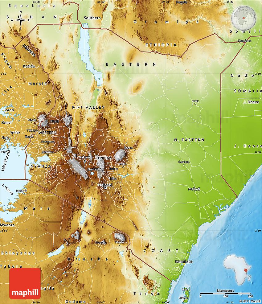 Physical map of kenya gumiabroncs Images