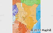 Political Shades Map of Kenya