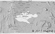 Gray 3D Map of NAIROBI