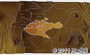 Physical 3D Map of NAIROBI, darken