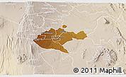 Physical 3D Map of NAIROBI, lighten