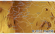 Physical 3D Map of NAIROBI
