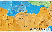 Political Shades 3D Map of NAIROBI