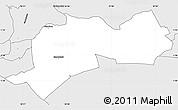Silver Style Simple Map of EMBAKASI