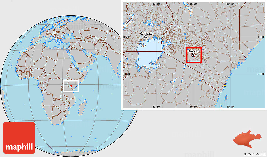 Gray location map of nairobi 2d gumiabroncs Image collections