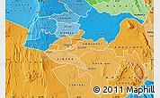 Political Shades Map of NAIROBI