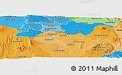 Political Shades Panoramic Map of NAIROBI