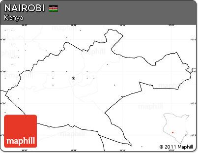 Free Blank Simple Map Of NAIROBI No Labels - nairobi map