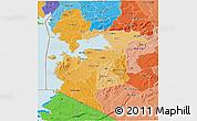 Political Shades 3D Map of NYANZA