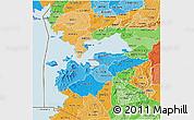 Political Shades 3D Map of HOMA_BAY