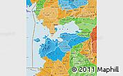 Political Shades Map of HOMA_BAY