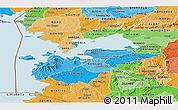 Political Shades Panoramic Map of HOMA_BAY