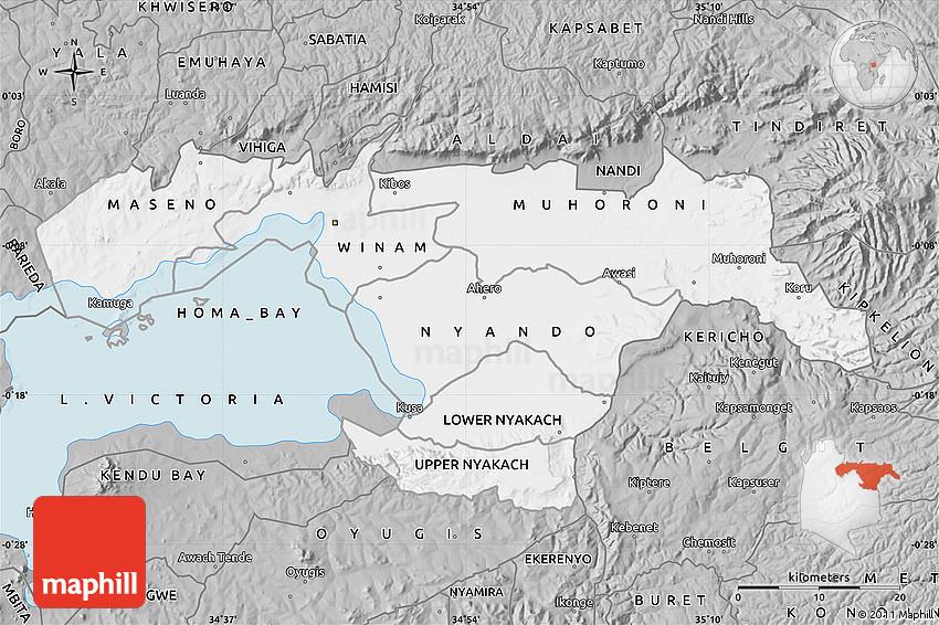 Gray Map of KISUMU