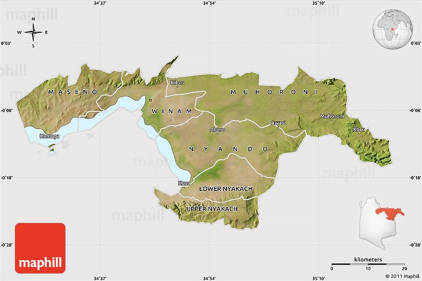 Satellite Map of KISUMU cropped outside
