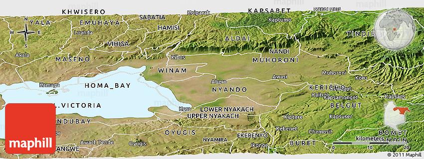 Satellite Panoramic Map of KISUMU