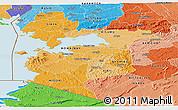 Political Shades Panoramic Map of NYANZA