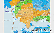 Political Shades 3D Map of SIAYA