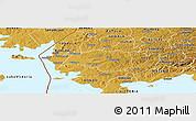 Physical Panoramic Map of BORO