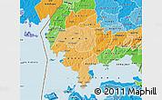 Political Shades Map of SIAYA