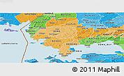 Political Shades Panoramic Map of SIAYA