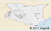 Classic Style Panoramic Map of Kenya, single color outside