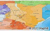 Political Shades Panoramic Map of Kenya