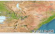 Satellite Panoramic Map of Kenya